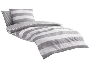 Castell Mako-saténové ložní prádlo Maritime světle šedé