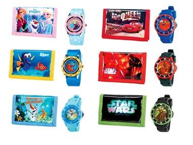 Dětské náramkové hodinky s peněženkou