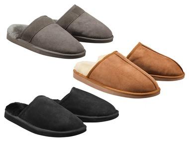 LIVERGY® Pánská domácí kožená obuv s ovčí vlnou
