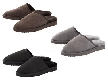 LIVERGY® Pánské domácí kožené pantofle