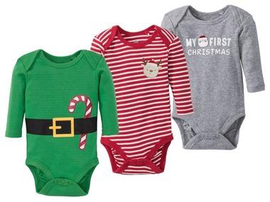 LUPILU® Chlapecké vánoční body s dlouhými rukávy