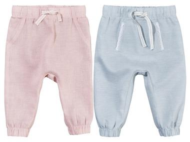 LUPILU® Dívčí lněné kalhoty