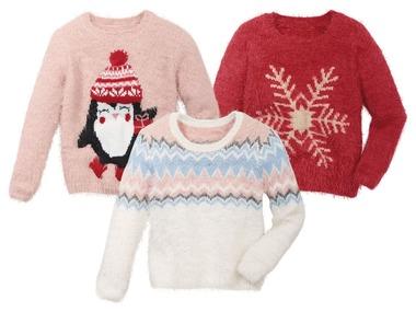 LUPILU® Dívčí vánoční hřejivý svetr
