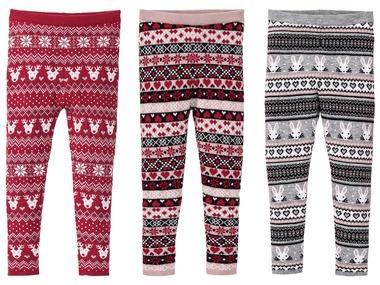 LUPILU® Dívčí vánoční pletené legíny