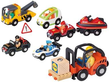 PLAYTIVE®JUNIOR Dřevěné dopravní prostředky
