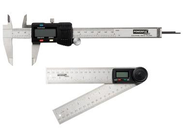POWERFIX® Digitální úhloměr / Digitální posuvné měřítko