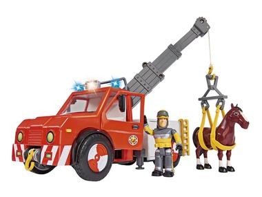 Simba Požárník Sam Auto Phoenix s figurkou a koněm