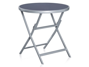 FLORABEST® Skládací hliníkový stůl se skleněnou deskou