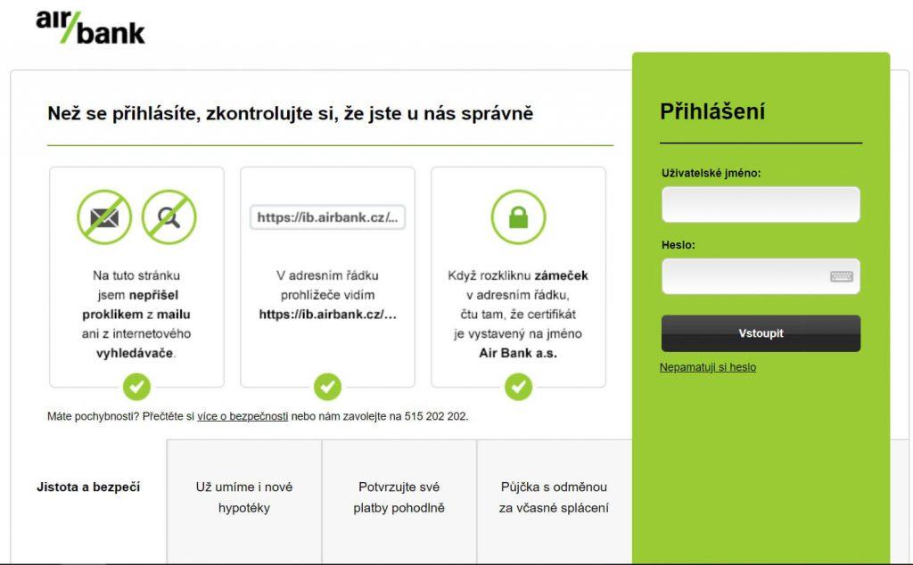 AirBank - poplatky, půjčky, pobočky, MyAir, internetbanking (přehled) 1