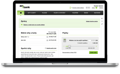AirBank - poplatky, půjčky, pobočky, MyAir, internetbanking (přehled) 2