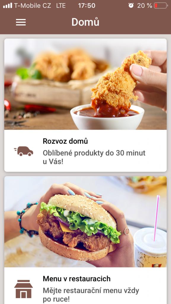KFC aplikace