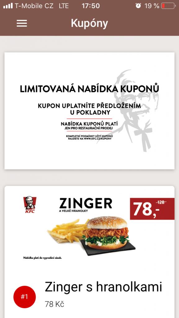 KFC kupóny