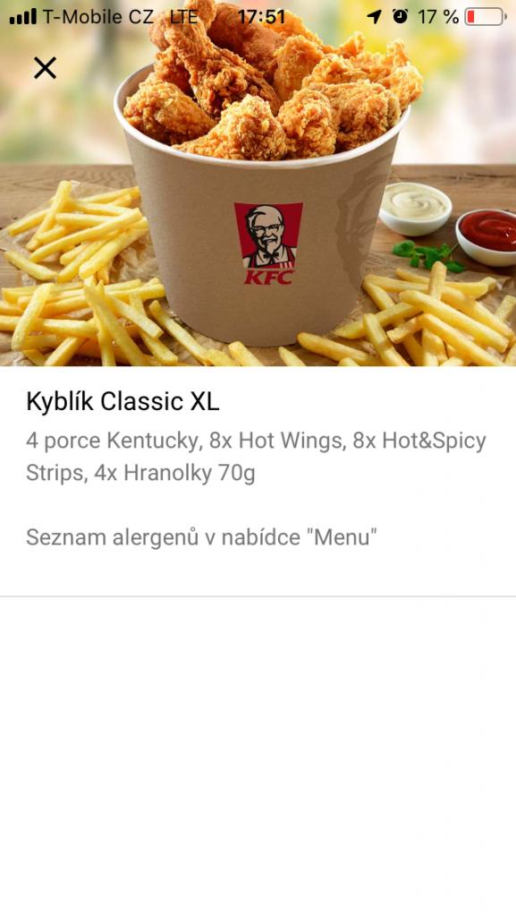 KFc detail produktu - Kyblík Classic