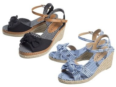 ESMARA® Dámské sandály s klínovým podpatkem