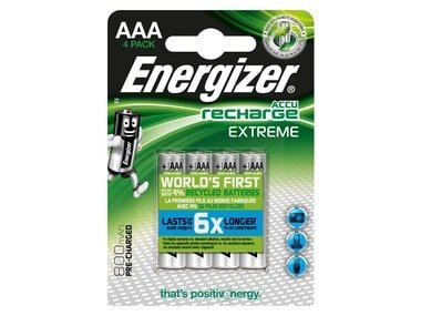 Energizer Recharge Extreme AAA 800 mAh