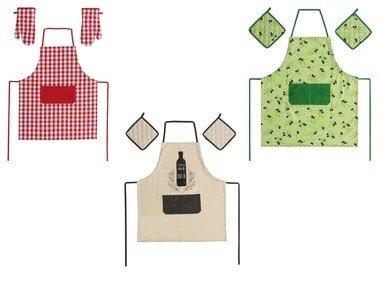 MERADISO® Kuchyňská souprava zástěry a chňapek/kuchyňských rukavic