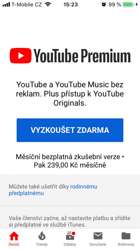 Youtube Premium - sledujte Youtube bez reklam (TIP: jak ušetřit 50% z tarifu) 1