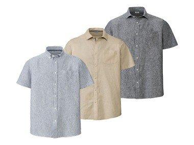 LIVERGY® Pánská lněná volnočasová košile XXL
