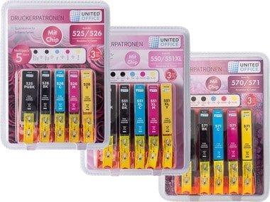 UNITEDOFFICE® Inkoustové náplně Canon – Multipack