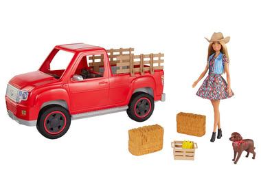 Barbie Zábava na farmě vozidlo s panenkou