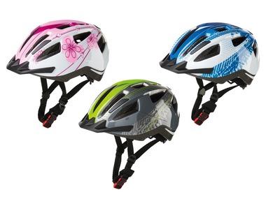 CRIVIT® Dětská cyklistická helma Rear Light Kids 2020