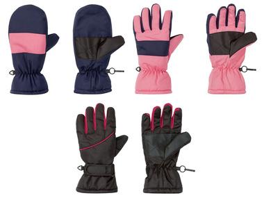 CRIVIT® Dívčí lyžařské rukavice