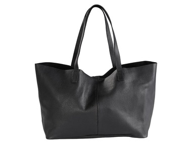 ESMARA® Dámská kožená oboustranná kabelka shopper