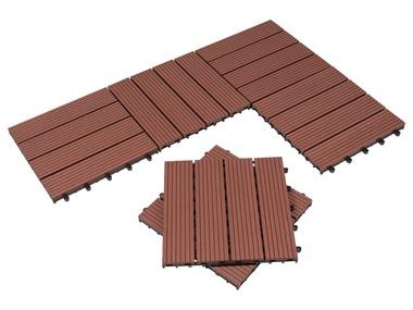 FLORABEST® Dřevěné dlaždice WPC