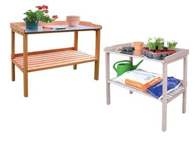 HABAU Zahradní stůl s pozinkovanou pracovní deskou
