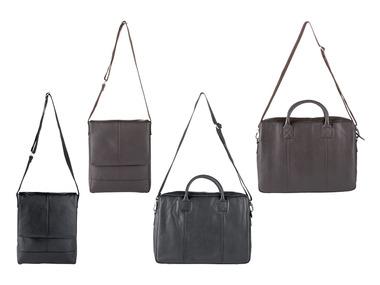 LIVERGY® Pánská kožená taška na notebook / taška messenger