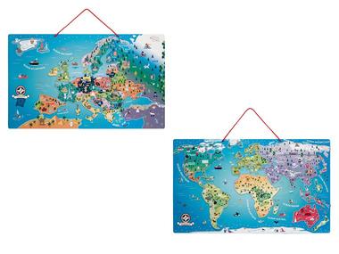 PLAYTIVE®JUNIOR Dřevěná magnetická mapa