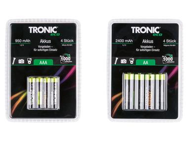 TRONIC® Přednabité dobíjecí baterie Ni-MH